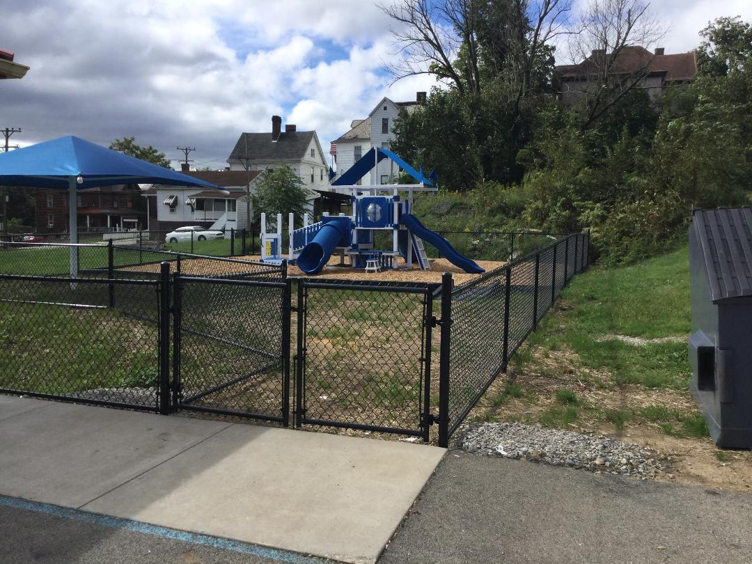 Black chainlink playground